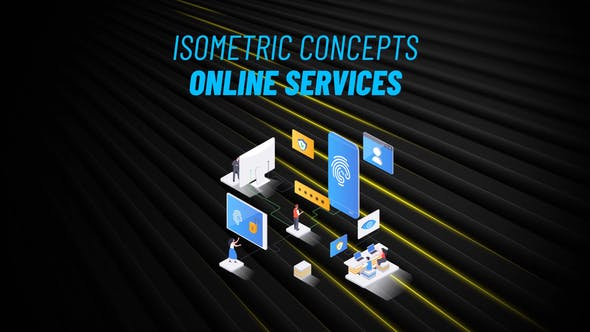 Videohive Online Service Isometric Concept 31223576