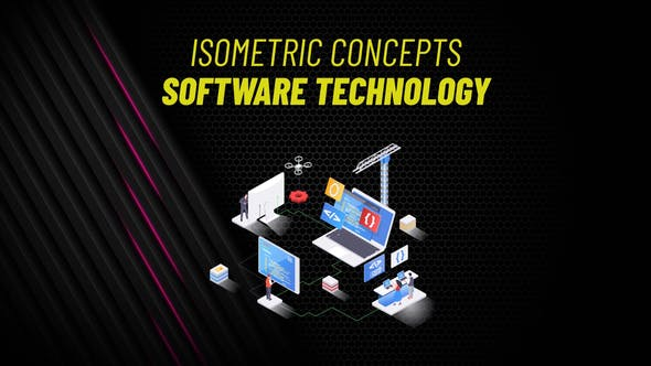 Videohive Software Technology Isometric Concept 31223594