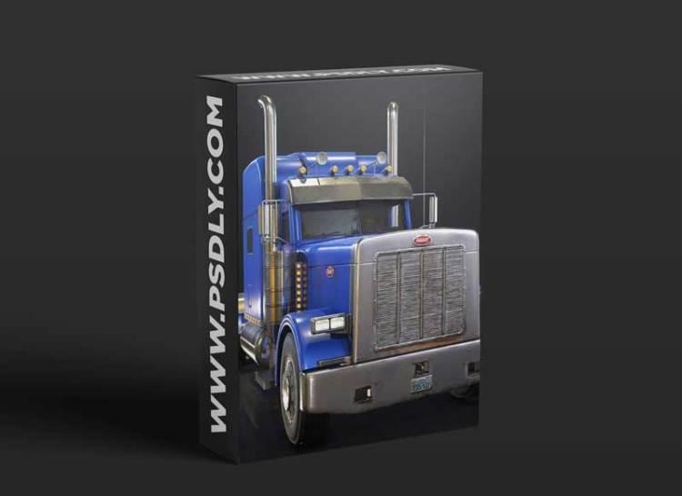 Cgtrader - American Peterbilt Truck