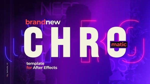 Videohive Chromatic Typographic Promotion Opener Slideshow 31302209