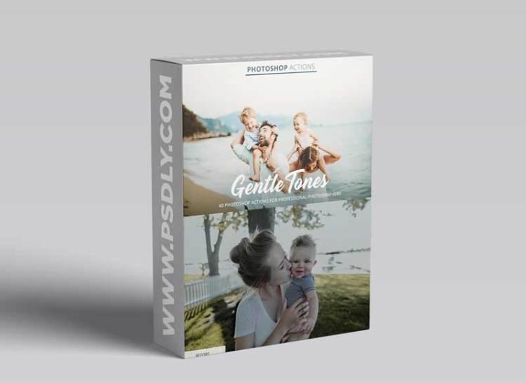 CreativeMarket - Gentle Tones Actions for Photoshop 4848118