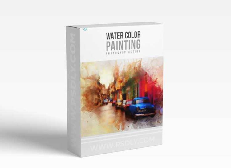 GraphicRiver - Water Color Painting Photoshop Action 18707132