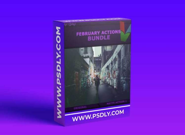 Graphicriver - February Photoshop Actions Bundle 15146412