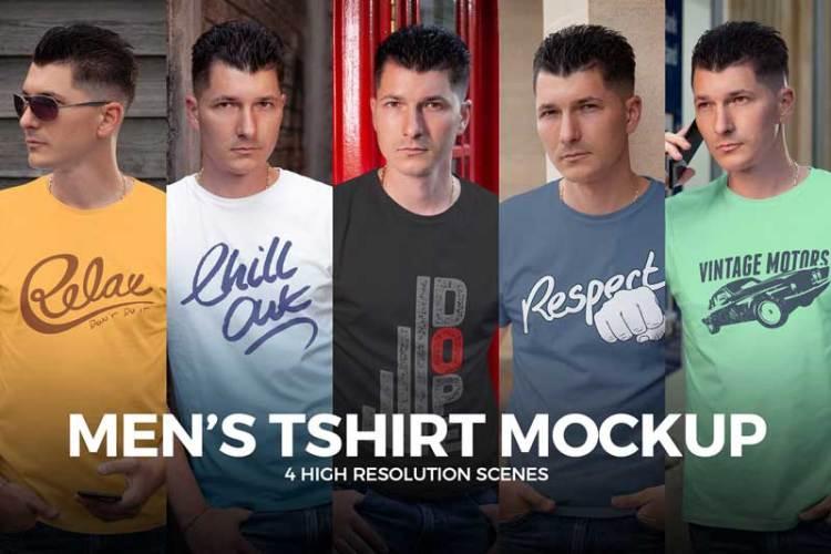 Men's T-shirt Mock-up 7ZYZ3BP