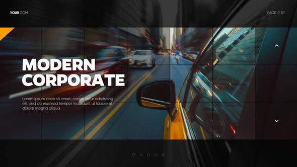Videohive Modern Mosaic Corporate Presentation DaVinci Resolve 29885752