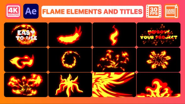 Videohive Flame Elements And Titles After Effects 31189603