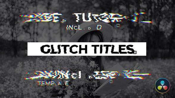 Videohive Glitch Titles 30259753