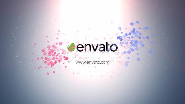 Videohive Colourful Particles Logo 30668639