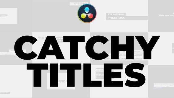 Catchy Titles for DaVinci Resolve 29721069