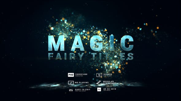 Videohive - Magic   Fairy Particles Titles - 30613652