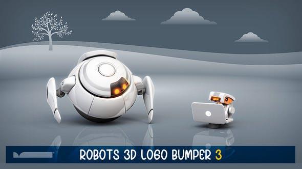 Videohive Robots 3D Logo Bumper III 29745554