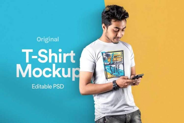 T-Shirt Mockup Vol 18 FXDU765