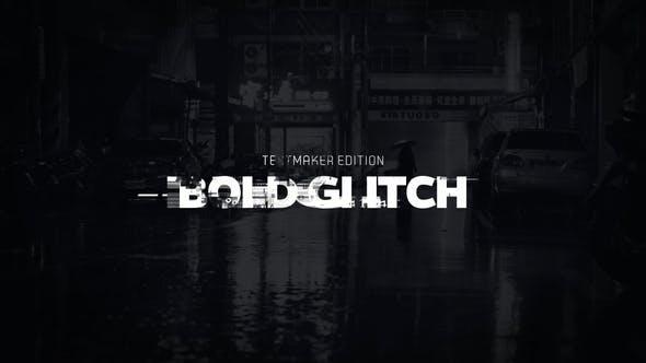Videohive Title Animator Bold Glitch DaVinci Resolve 30064683