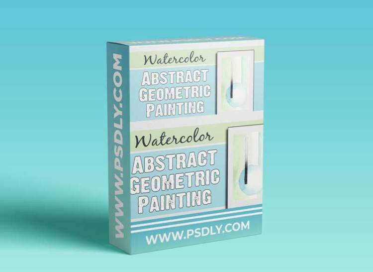 Watercolor Abstract Geometric Painting