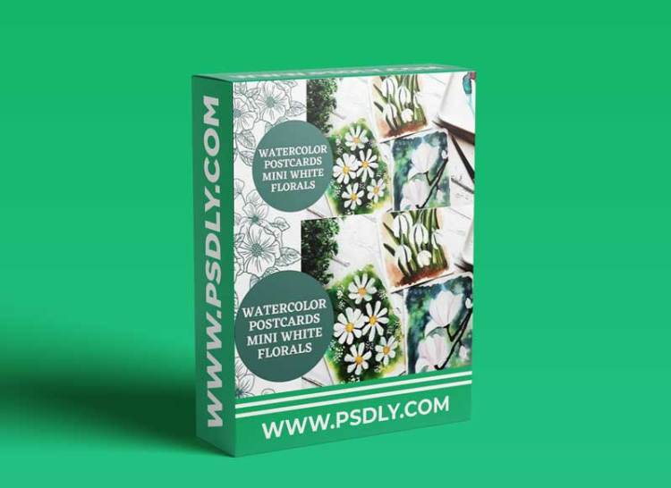 Watercolor Floral Postcards : Painting Mini White Florals