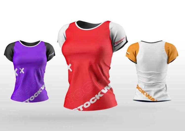 Women's T-Shirt Mockups 7VGK2EF
