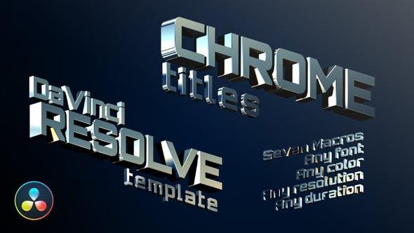 Videohive Chrome Titles | DaVinci Resolve 30107248