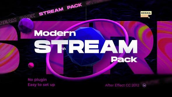 Videohive Modern stream pack 30504728