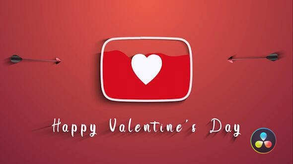 Videohive Valentines Day Youtube Logo 29858772
