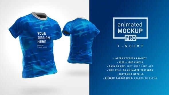 Videohive Animated Mockup PRO 360 Animated T-shirt Mockup Template 30892735