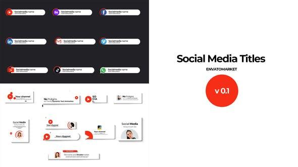 Videohive Social Media Title 31377865