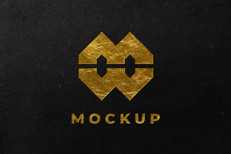 Black Gold Logo Mockup