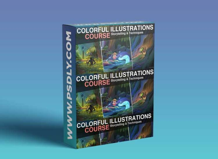 Colorful Illustrations + Brush Pack