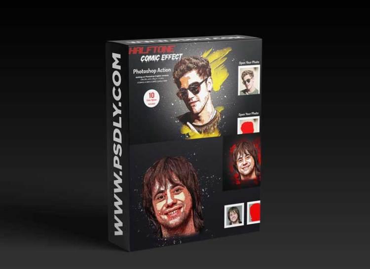 CreativeMarket - Halftone Comic Effect PS Action 6025947