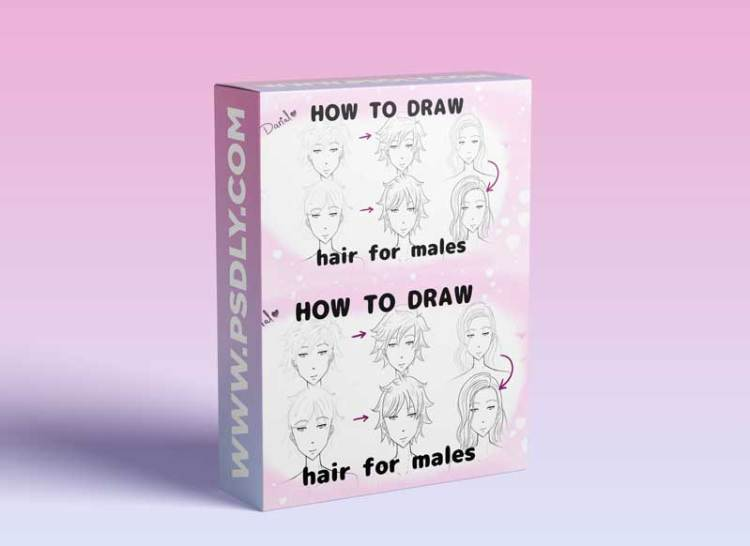 How to draw anime hair for Males/ boys