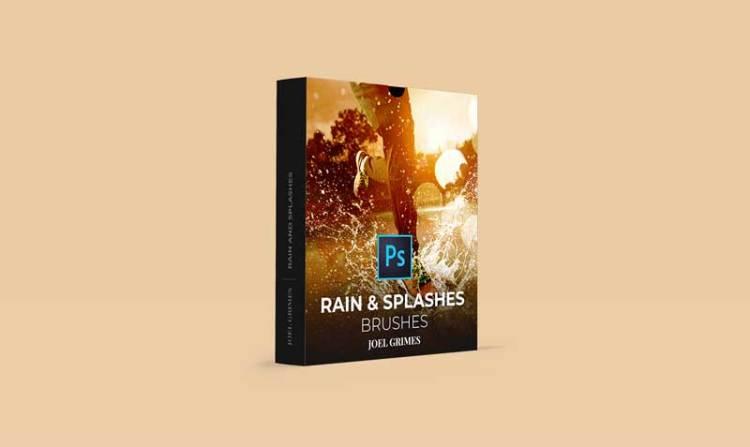 Joel Grimes - Rain and Splashes Photoshop Brushes