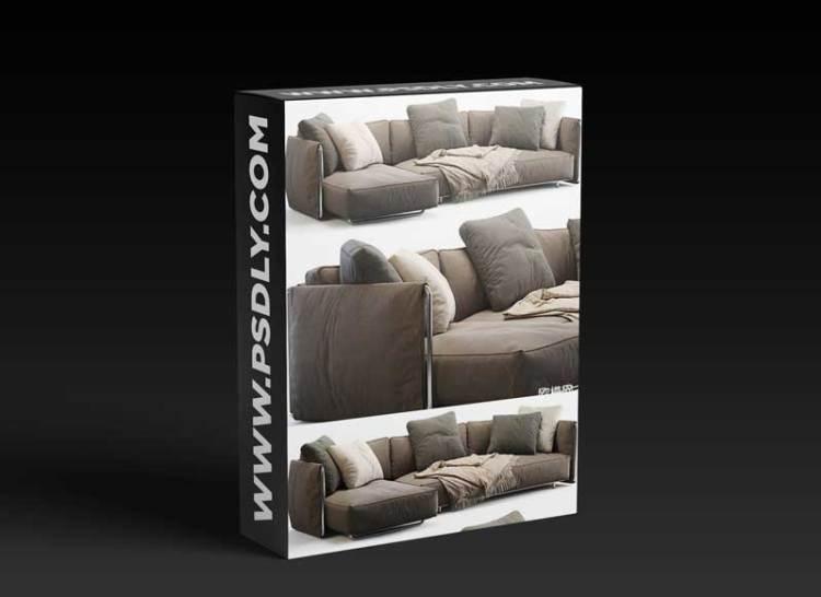 Modern fabric sofa combination 05