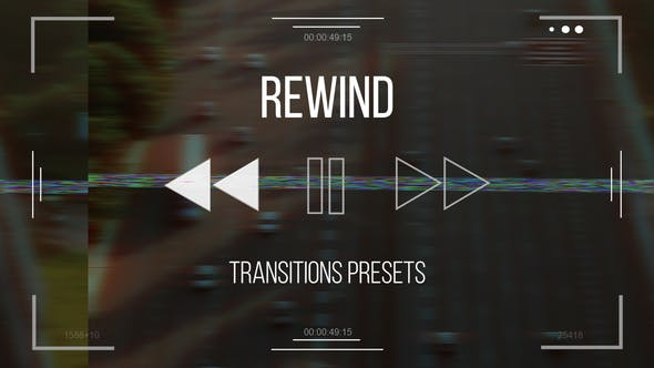 Videohive Rewind Transitions presets 31458015
