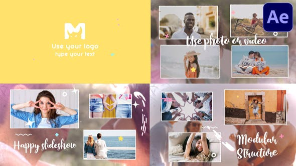 Videohive Happy Slideshow After Effects 31852430