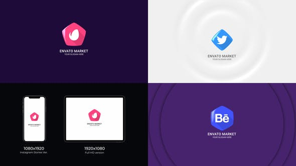 Videohive Flat Logo Reveal Pack 31619670