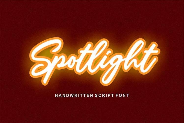 Spotlight Handwriting Font