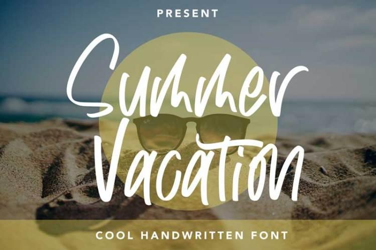 Summer Vacation - Cool Handwritten Font