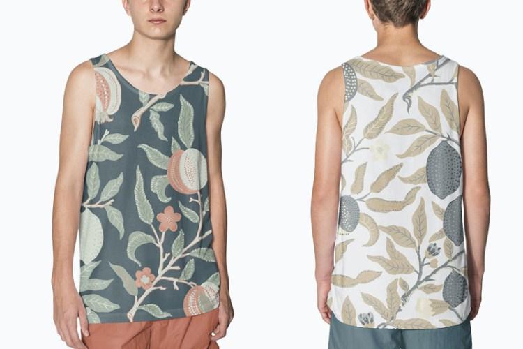 Teen's tank top mockup design streetwear fashion