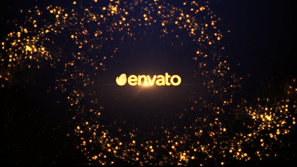 Videohive Gold Spiral Logo Reveal 15235527