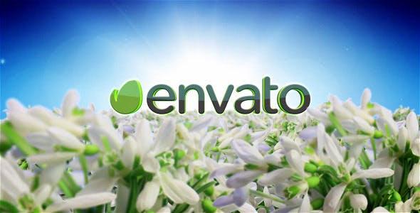 Videohive Spring Flowers Logo Sting 7750658