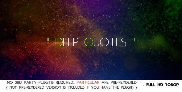 Videohive Deep Quotes 4374059