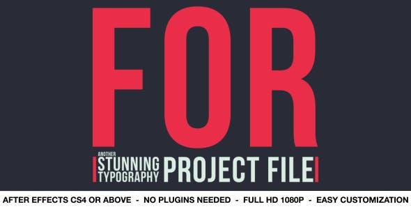 Videohive Elegant Typography V4 4551750