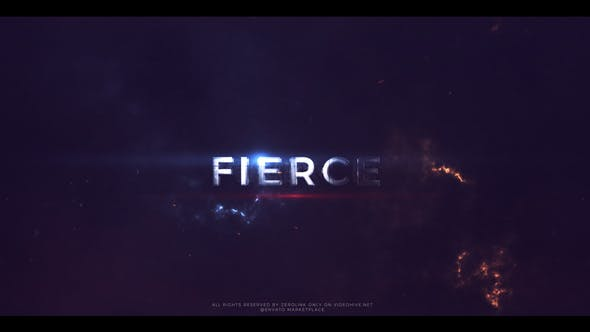 Videohive Fierce - Action Trailer Titles 21874400