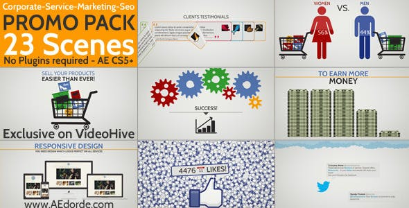 Videohive Corporate Service Marketing Seo Promo Pack 5866444