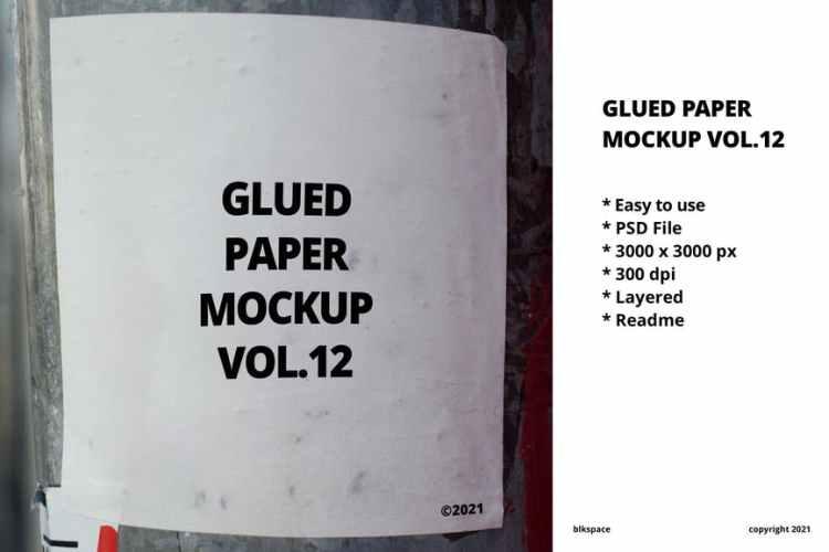 Glued Paper Mockup Vol.12