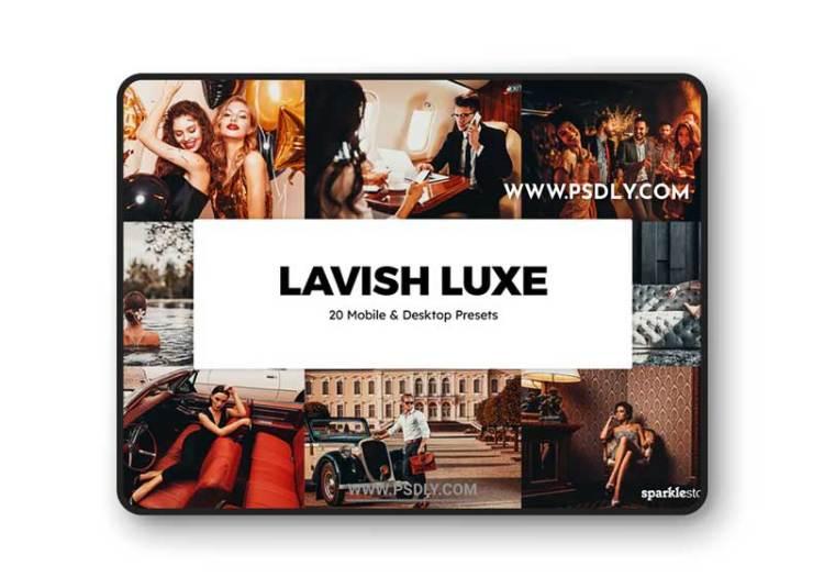 20 Lavish Luxe Lightroom Presets & LUTs
