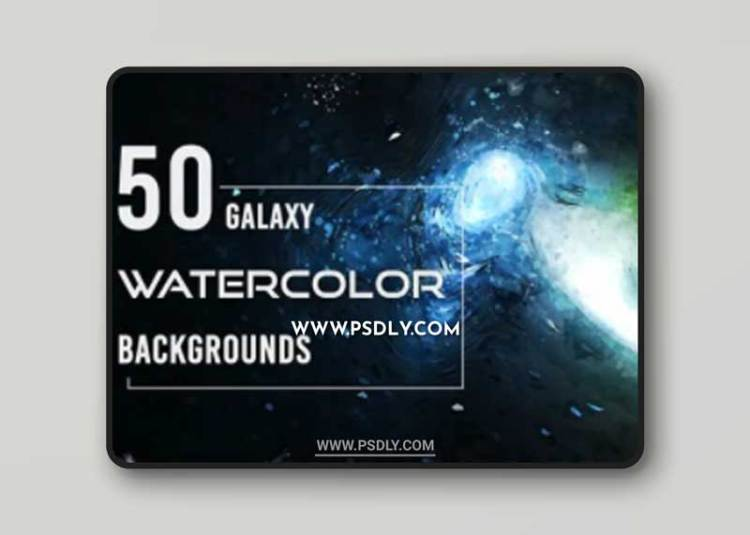 50 Realistic Galaxy Watercolor Backgrounds Collection