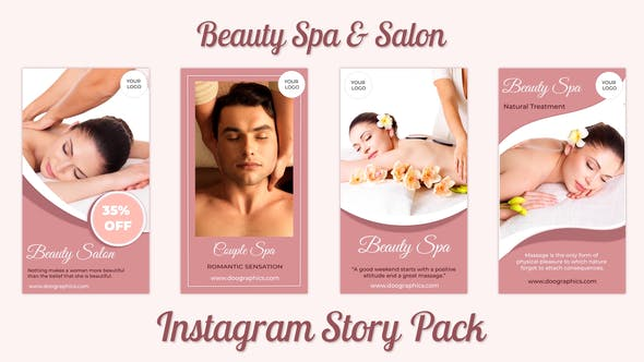 Videohive Beauty Spa and Salon Instagram Story Pack 32893658