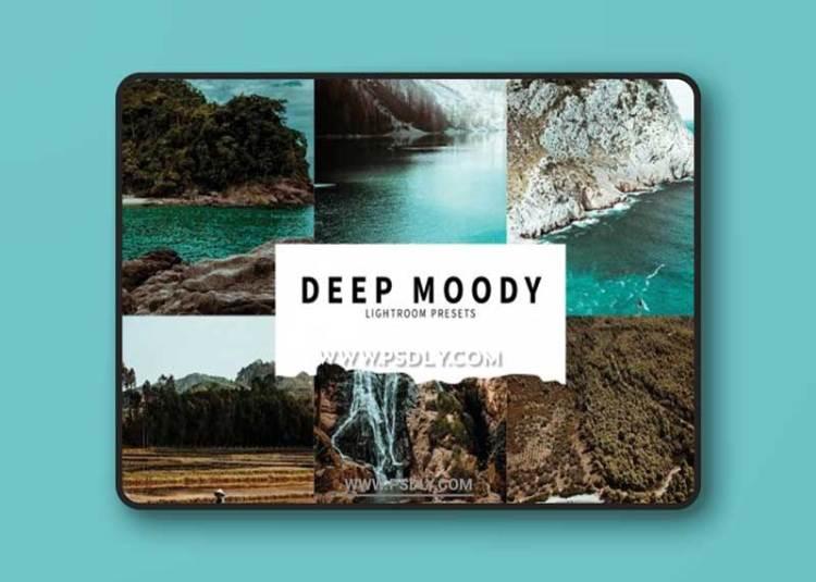 CreativeMarket - 10 Deep Moody Lightroom Presets 6076178