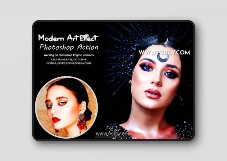 CreativeMarket - Modern Art Effect Photoshop Action 5378257