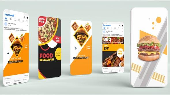 Videohive Food & Restaurant Promo Social B90 33041595